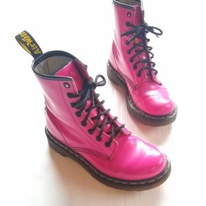 DOC MARTENS • 1460 pink lace-up combat boots